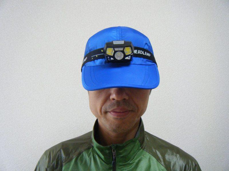 ヘッドライトを装着したキャップのイメージ