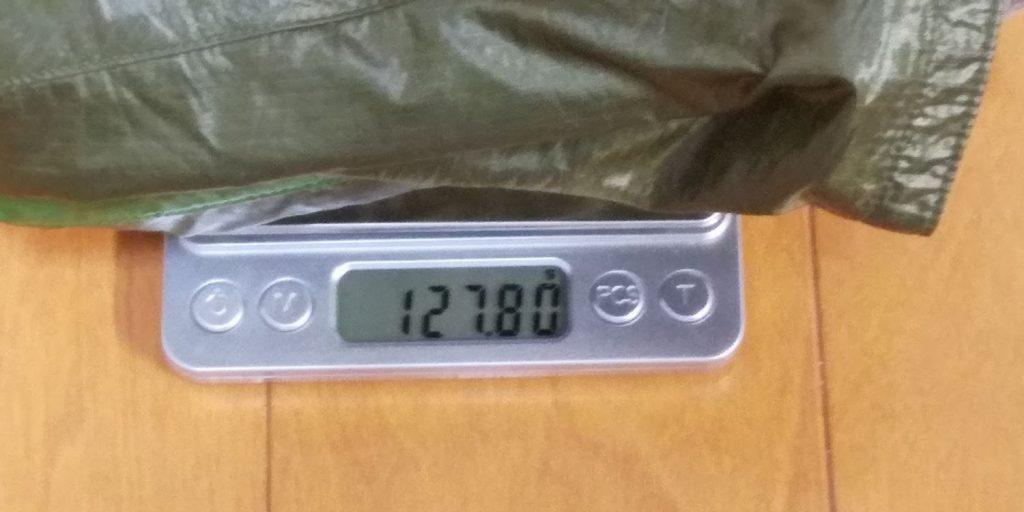 モンベルウインドブレーカーの重さのイメージ