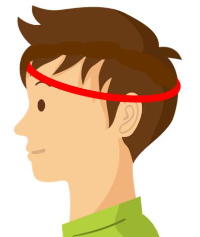 頭囲の測り方イメージ