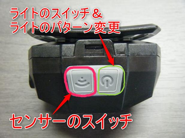 ヘッドライトKarrongのスイッチイメージ