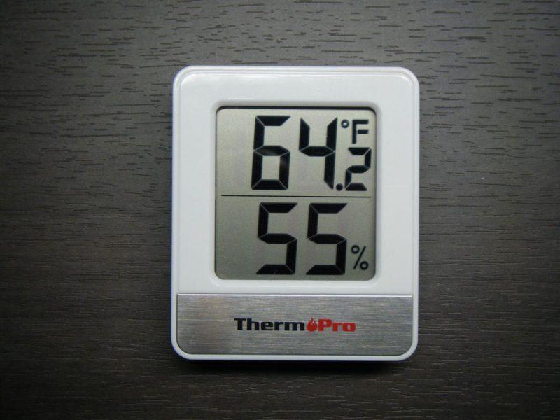 ThermoPro デジタル温湿度計 TP-49の華氏のイメージ