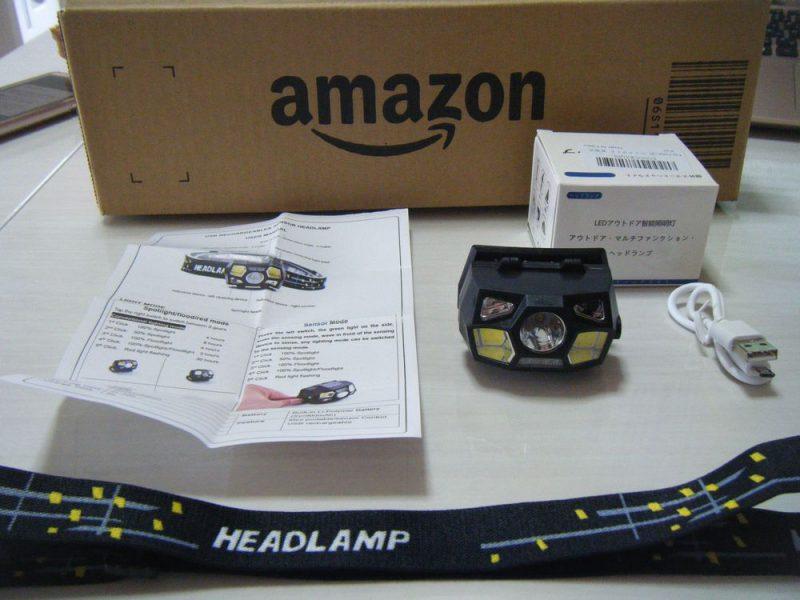 Karrong充電式LEDヘッドライトをamazonで購入したイメージ