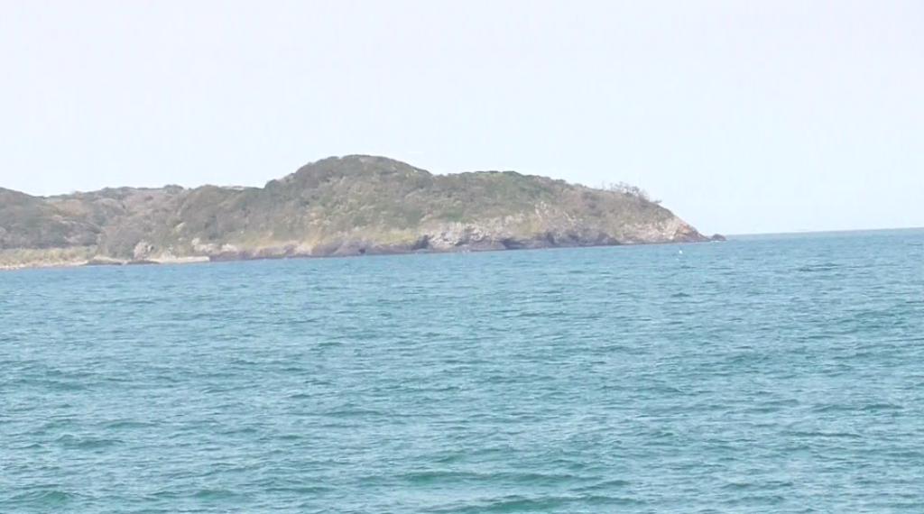 フェリーから見た相島イメージ