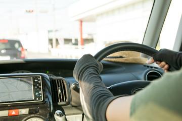 運転中のアームカバーのイメージ