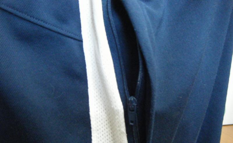 パンツのジッパー式イメージ