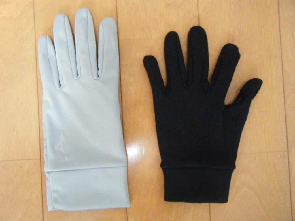 ミズノの手袋とunigearグローブのイメージ