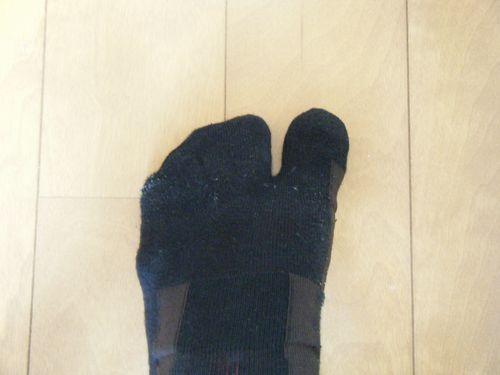 足袋タイプのランニングソックスイメージ