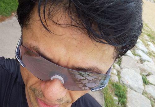 額の汗のイメージ