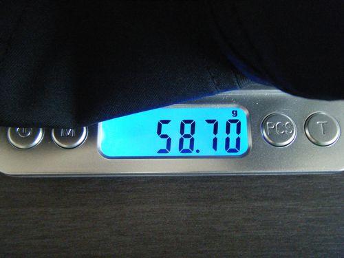 フェザーライトキャップの重量イメージ