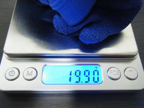 ペーパーファイバーソックスのランニング後の重量イメージ