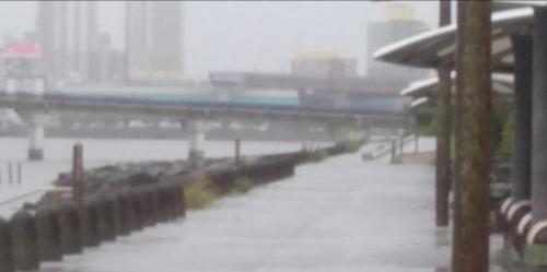 雨のランニングコース