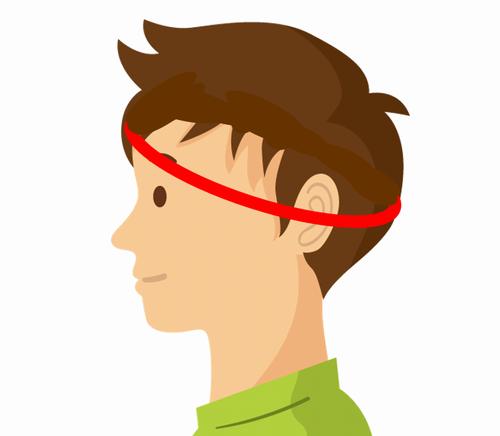 頭囲の測り方