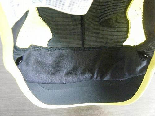 ノースフェイススワローテイルキャップNN41970の内側額部分の吸汗速乾生地のイメージ