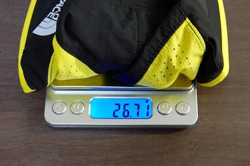 ノースフェイスのスワローテイルキャップの重量イメージ