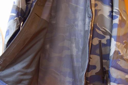 アディダス マストハブ カモ ウインドブレーカーの裏地メッシュイメージ