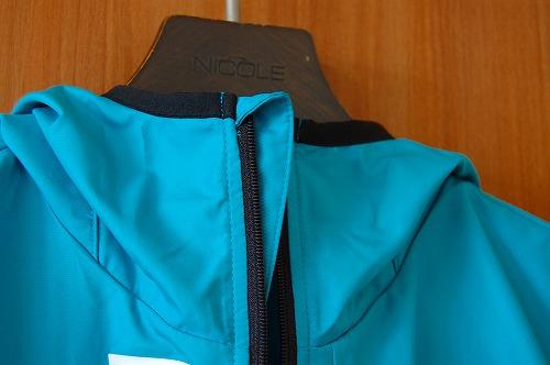 デサントウインドブレーカージャケット DRMQJF30のジッパーフラップイメージ