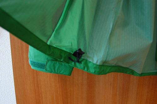 ノースフェイス ベンチャージャケット NP11536Kの裾ドローコードイメージ