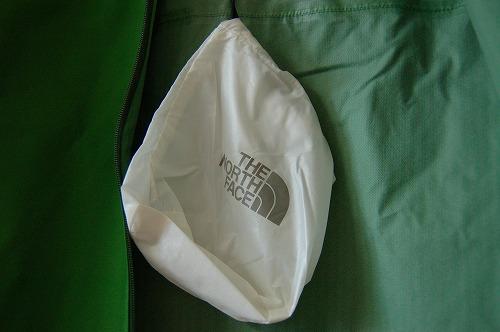 ノースフェイス ベンチャージャケット NP11536Kの小袋イメージ