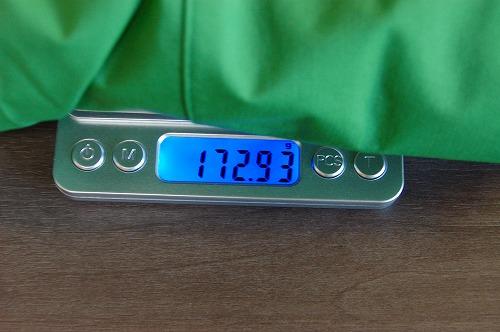 ノースフェイス ベンチャージャケット NP11536Kの重量イメージ