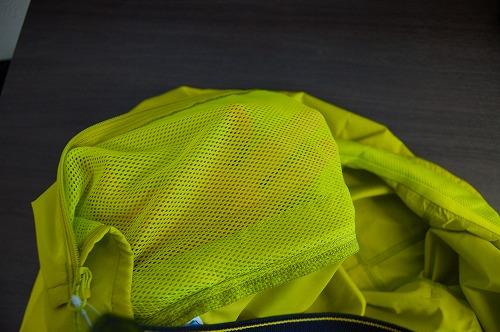 サロモン アジャイル ウインド ジャケットのポケット内側のベンチレーターイメージ