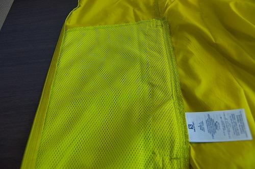 サロモン アジャイル ウインド ジャケットの内側イメージ