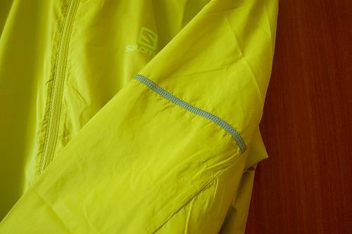 サロモン アジャイル ウインド ジャケットの左腕リフレクターイメージ