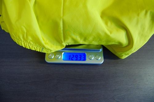 サロモン アジャイル ウインド ジャケットの重量イメージ