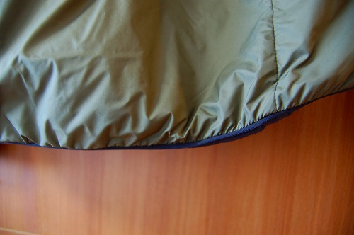 サロモン OUTRACK Insulated Jacket Men (アウトラック インサレーテッド) LC1395700の裾イメージ