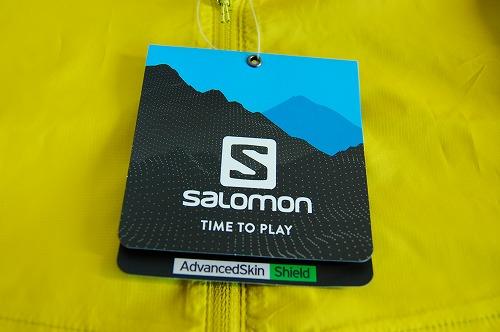 サロモン アジャイル ウインド ジャケットのタグイメージ