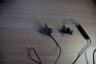 左右一体型のワイヤレスイヤホン・サウンドピーツQ35HDのイヤホン部分イメージ